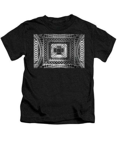Under The Eiffel Tower Kids T-Shirt