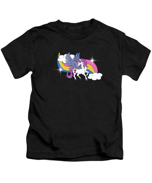 Unicorn With Wings Kids T-Shirt