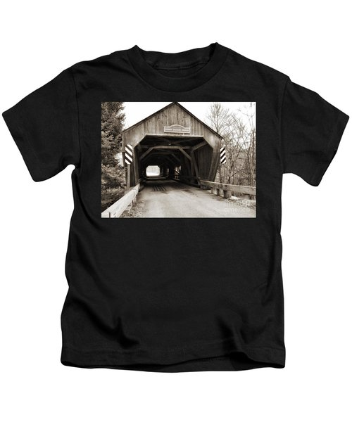 Union Village Covered Bridge Kids T-Shirt