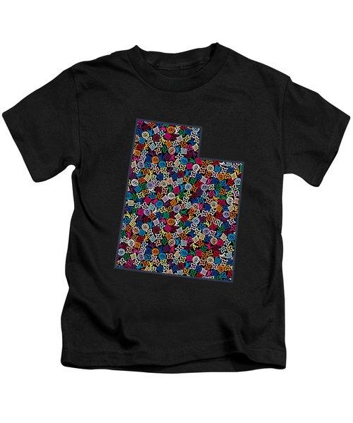 Utah Map - 2 Kids T-Shirt