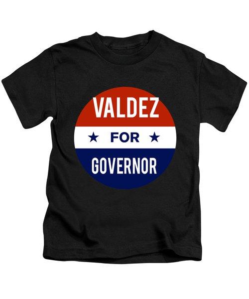 Valdez For Governor 2018 Kids T-Shirt