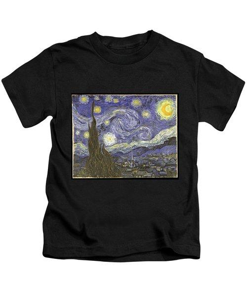 Van Goh Starry Night Kids T-Shirt