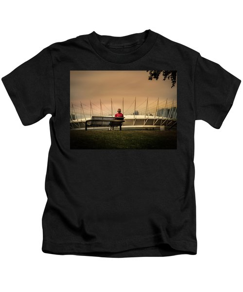 Vancouver Stadium In A Golden Hour Kids T-Shirt
