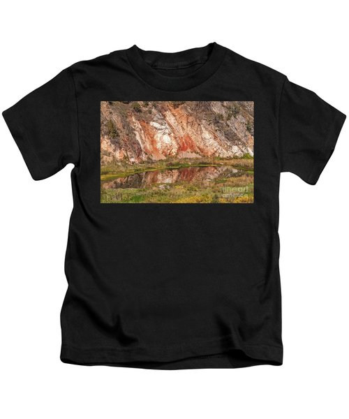 Vibrant Reflections On A Calm Pond Kids T-Shirt