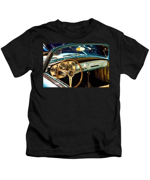 Vintage Blue Car Kids T-Shirt