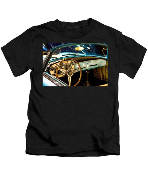 Vintage Blue Car Kids T-Shirt