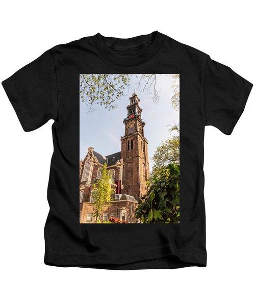 Westerkerk In Amsterdam Kids T-Shirt
