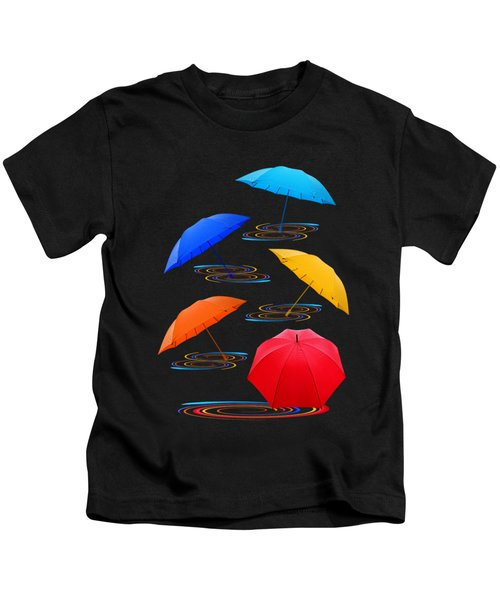 Whirling Umbrella Abstract Kids T-Shirt