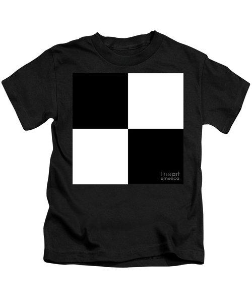 White And Black Squares - Ddh586 Kids T-Shirt