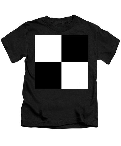 White And Black Squares - Ddh588 Kids T-Shirt