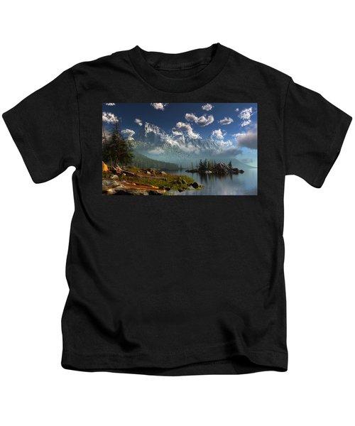 Window Through The Mist Kids T-Shirt