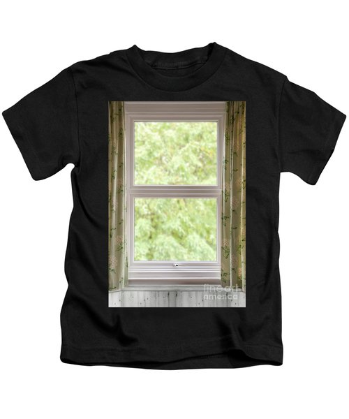 Window With Curtains Kids T-Shirt
