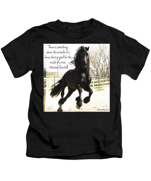 Winston Churchill Horse Quote Kids T-Shirt