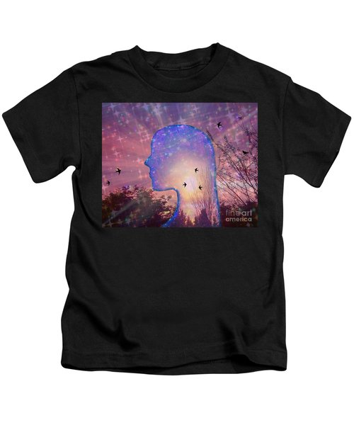 Worlds Within Worlds Kids T-Shirt