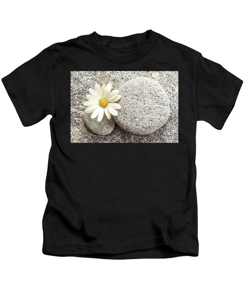 Zen Stone And Daisy Kids T-Shirt