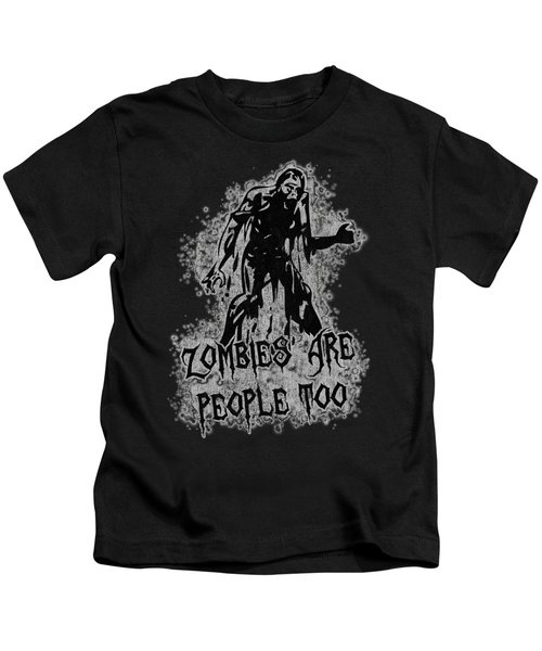 Zombies Are People Too Halloween Vintage Kids T-Shirt