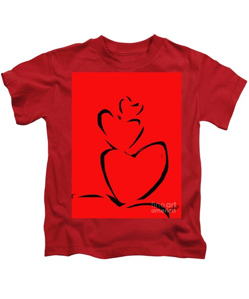 A Stack Of Hearts Kids T-Shirt