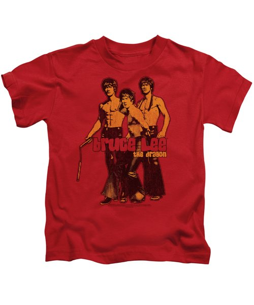 Bruce Lee - Nunchucks Kids T-Shirt