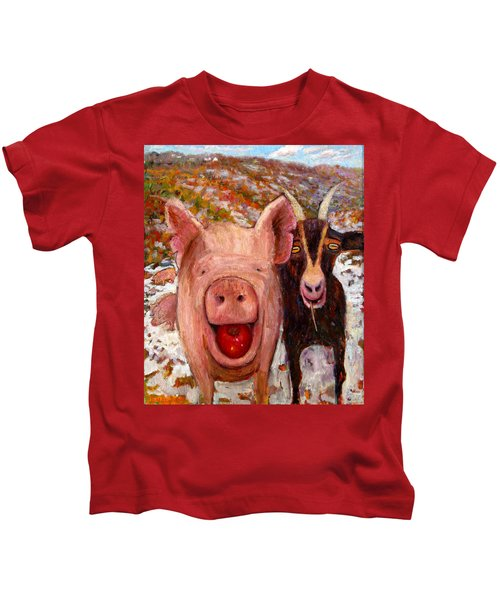 Pig And Goat Kids T-Shirt