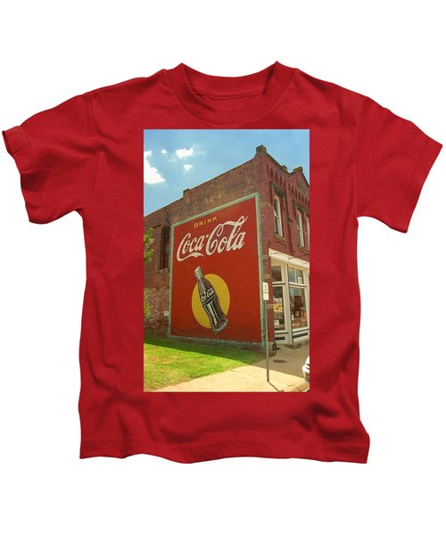 Route 66 - Coca Cola Ghost Mural Kids T-Shirt