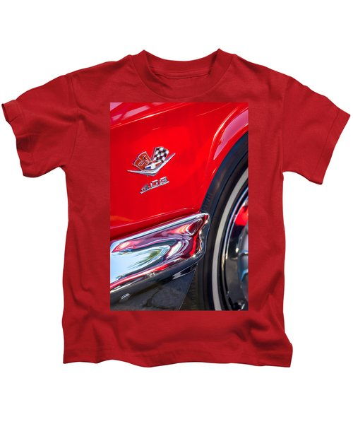 1962 Chevrolet Impala Ss 409 Emblem Kids T-Shirt