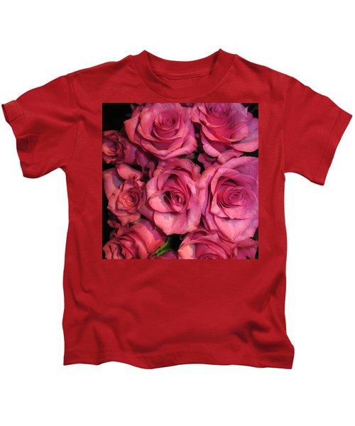 Rosebouquet In Pink Kids T-Shirt