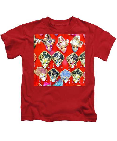 Venetian Masks  Kids T-Shirt