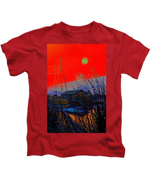 A Digital Marina Sunset Kids T-Shirt