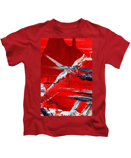 Abstract Original Artwork One Hundred Phoenixes Untitled Number Seven Kids T-Shirt