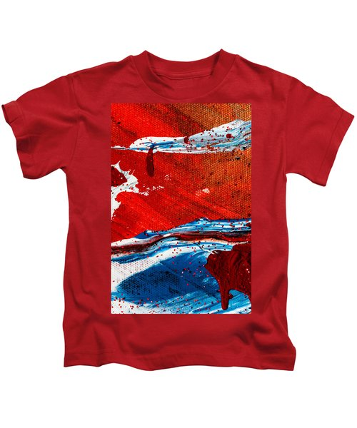 Abstract Original Artwork One Hundred Phoenixes Untitled Number Three Kids T-Shirt