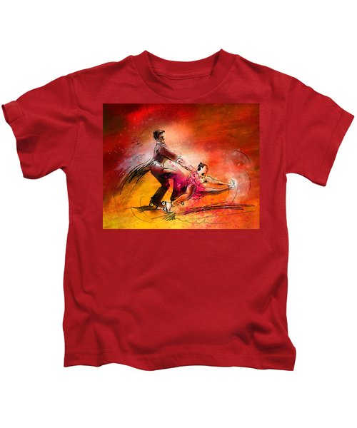 Artistic Roller Skating 02 Kids T-Shirt
