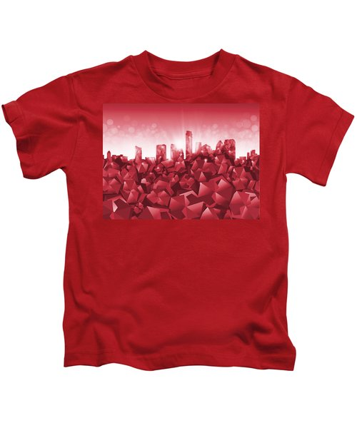 Austin Skyline Geometry Kids T-Shirt