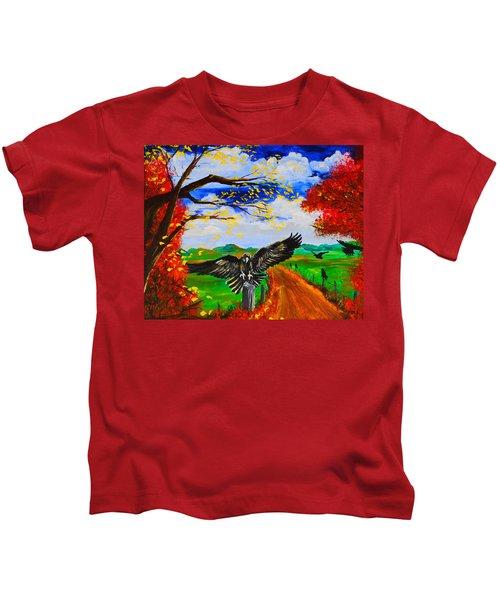 Back Roads Hangout Kids T-Shirt
