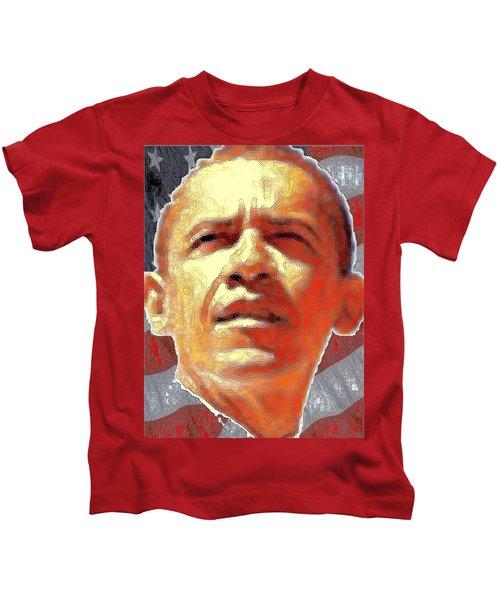 Barack Obama Portrait - American President 2008-2016 Kids T-Shirt