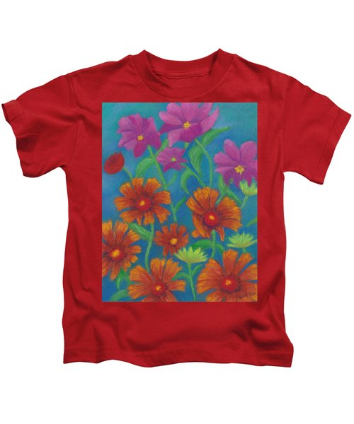 Blanket Flowers And Cosmos Kids T-Shirt