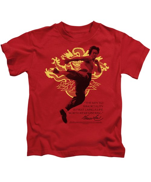 Bruce Lee - Immortal Dragon Kids T-Shirt by Brand A