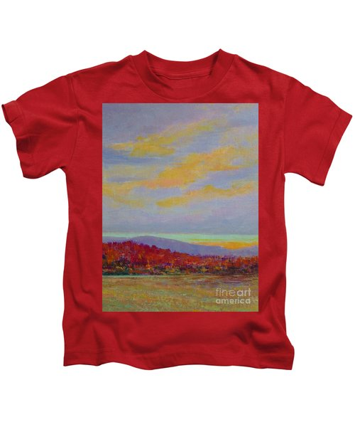 Carolina Autumn Sunset Kids T-Shirt