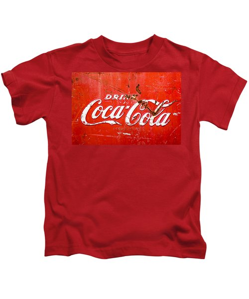 Kids T-Shirt featuring the photograph Coca-cola Sign by Jill Reger