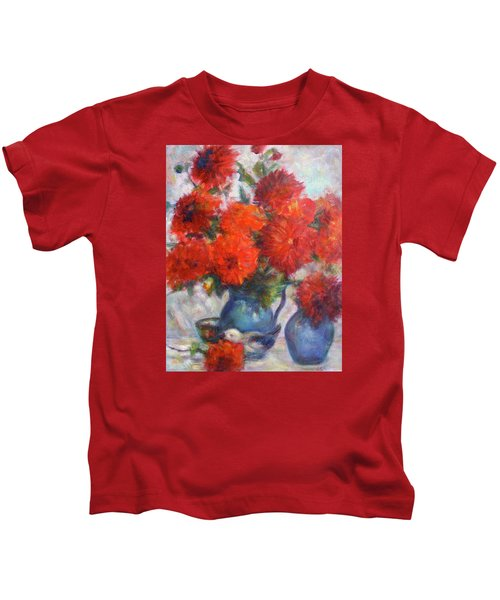 Complementary - Original Impressionist Painting - Still-life - Vibrant - Contemporary Kids T-Shirt