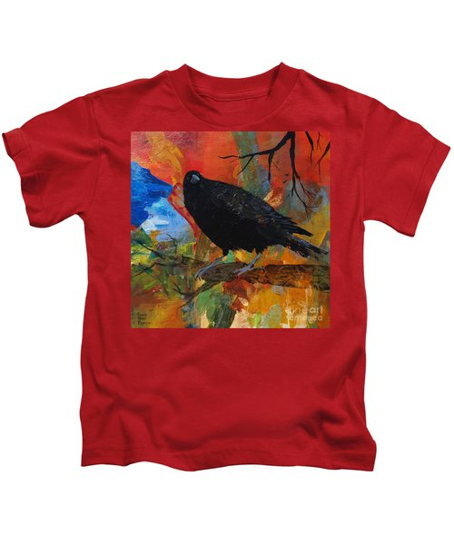 Crow On A Branch Kids T-Shirt