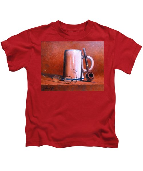 Cup Pipe And Glasses Kids T-Shirt