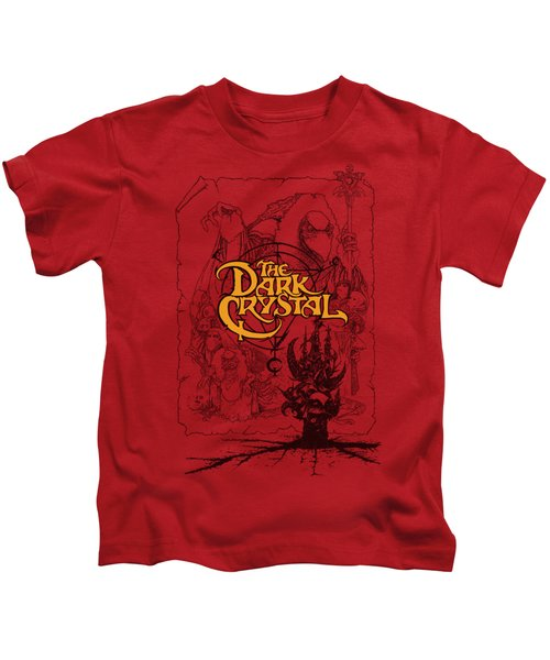 Dark Crystal - Poster Lines Kids T-Shirt