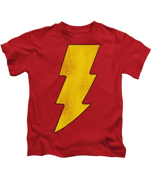 Dc - Shazam Logo Distressed Kids T-Shirt