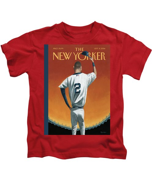 Derek Jeter Bows Out Kids T-Shirt