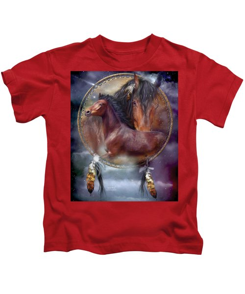 Dream Catcher - Spirit Horse Kids T-Shirt