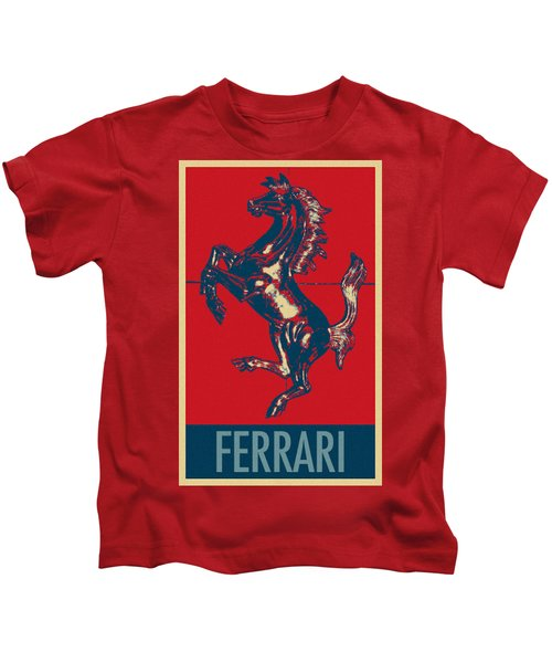 Ferrari Stallion In Hope Kids T-Shirt