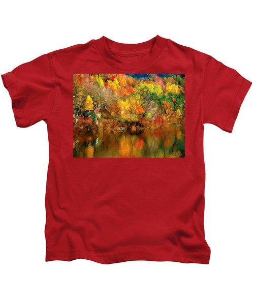 Flaming Autumn Abstract Kids T-Shirt