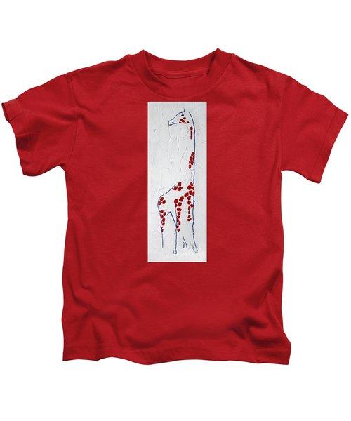 Giraffe Abstract Kids T-Shirt