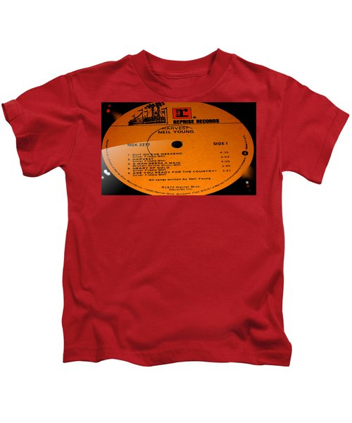 Harvest - Neil Young Side 1 Kids T-Shirt by Marcello Cicchini