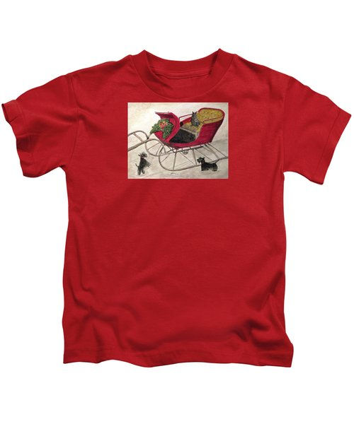 Hoping For A Sleigh Ride Kids T-Shirt